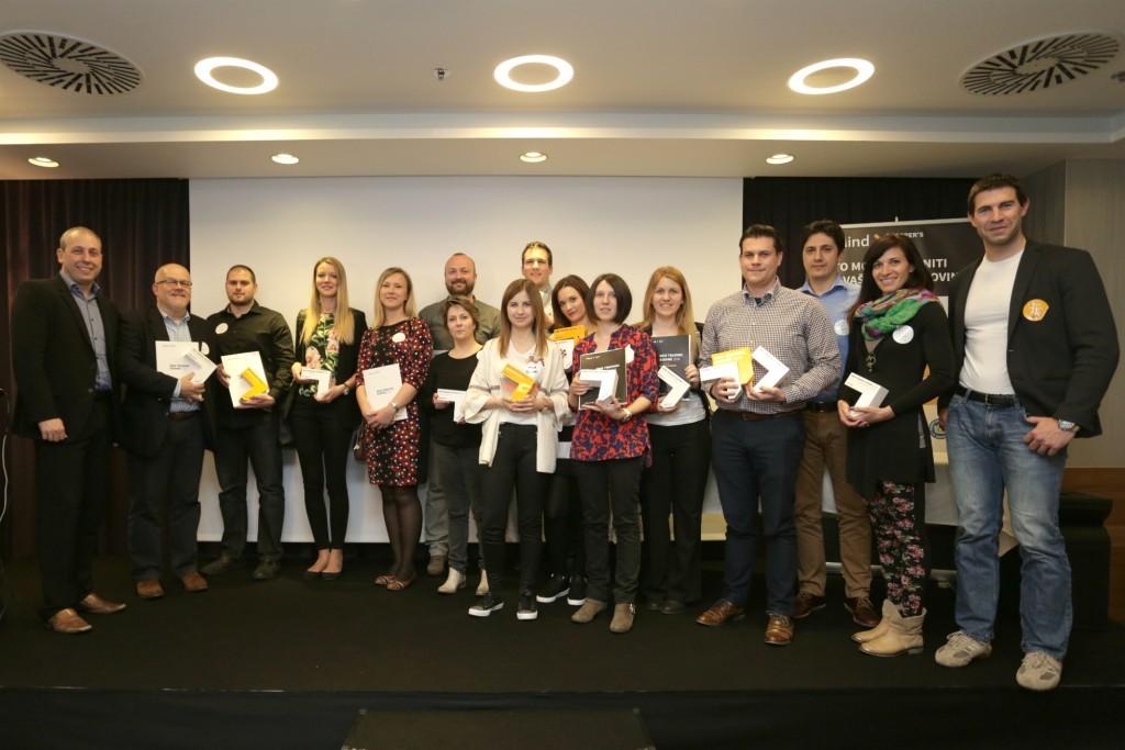 Zmagovalci WTG 2016 s predstavniki podjetja sMind d.o.o.